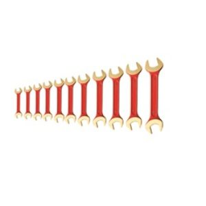 Double Open End Wrench Set 13 pc SAE